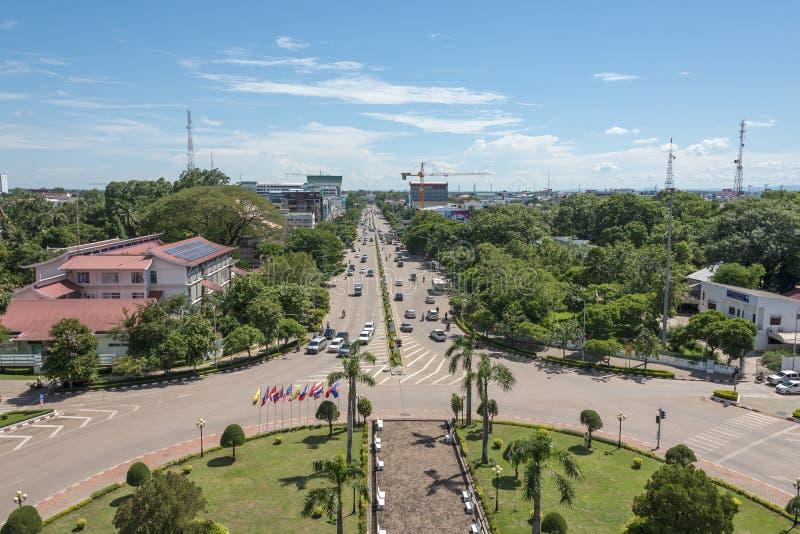 Patuxai Victory Monument en Vientián, Laos foto de archivo libre de regalías