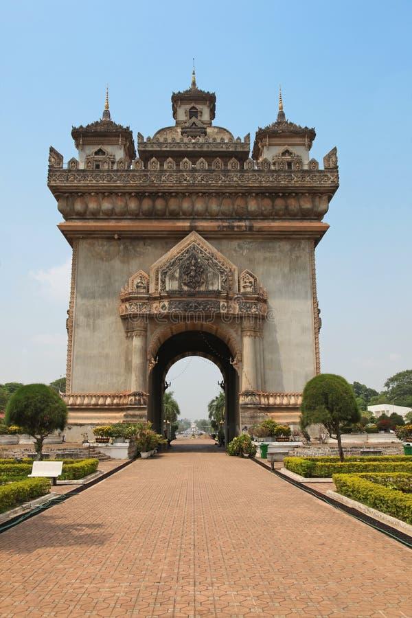 Patuxai - Vientián Laos fotografía de archivo