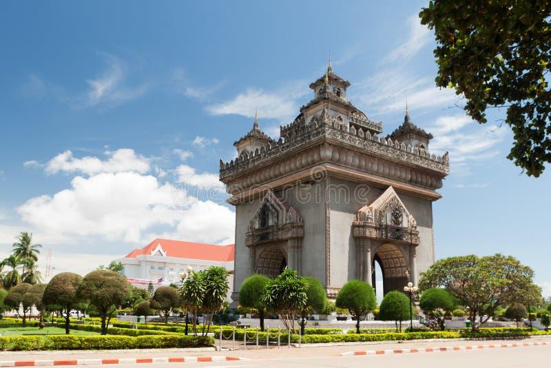 patuxai vientiane Лаоса стоковое фото
