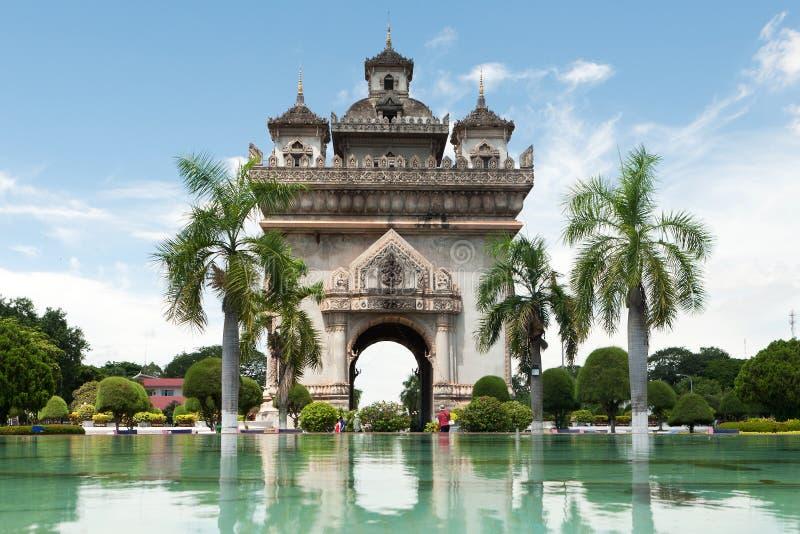 Patuxai a Vientiane fotografie stock libere da diritti