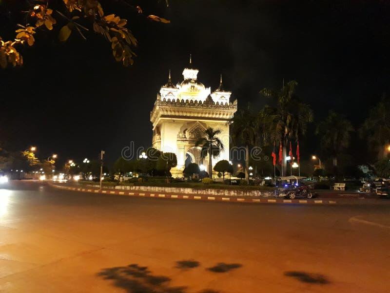 Patuxai Vientiane Laos fotografia stock libera da diritti