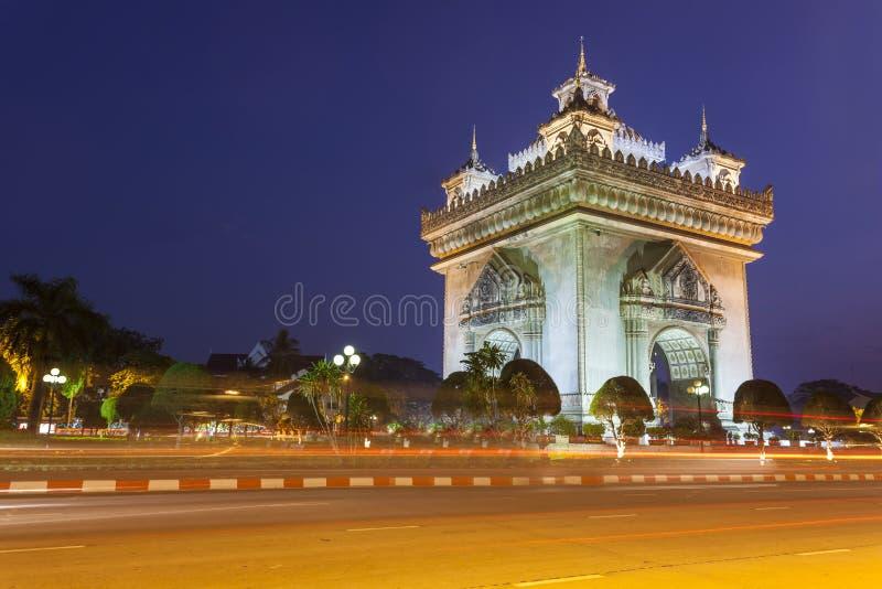 Patuxai Vientiane, Laos imagens de stock