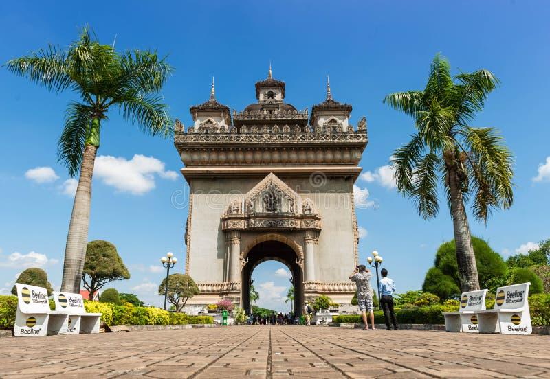 Patuxai zabytek w Vientiane, Laos zdjęcia stock