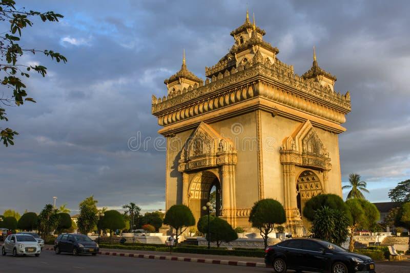 Patuxai zabytek w Vientiane, Laos obrazy royalty free