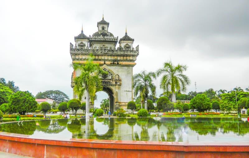 Patuxaymonument, Vientiane, Laos, stock afbeelding