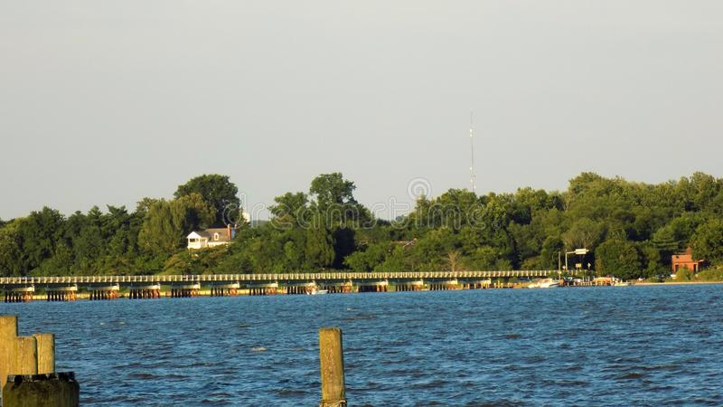 Patuxent River in Benedict Maryland stock images