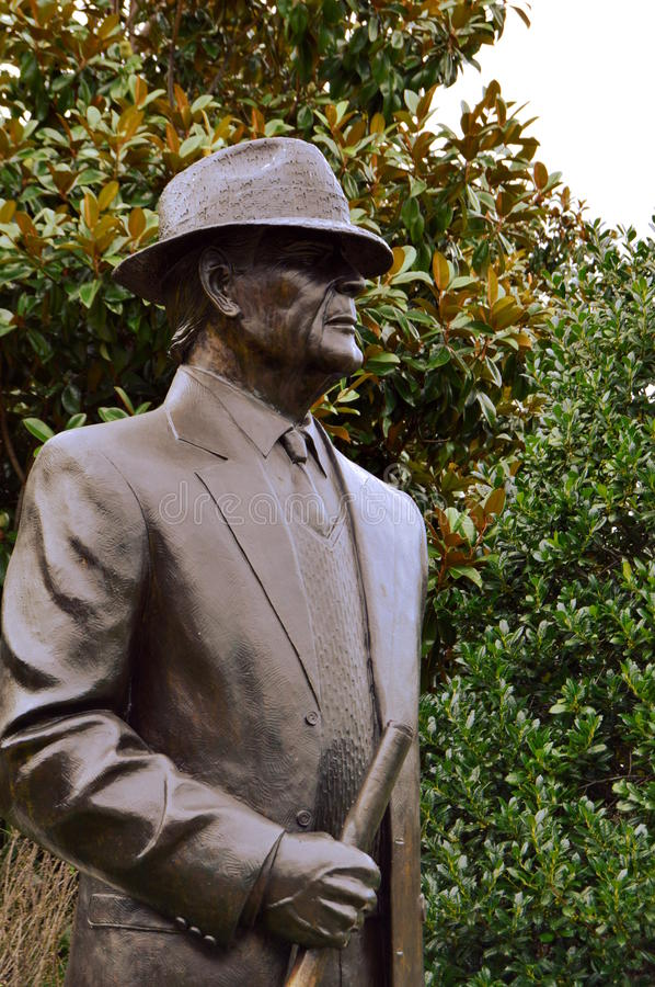 Paul Bear Bryant Statue stock images