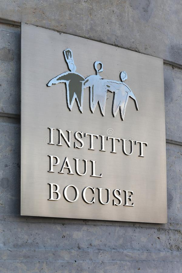 Paul Bocuse institut i Lyon, Frankrike royaltyfri fotografi