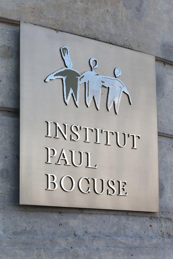 Paul Bocuse-instituut in Lyon, Frankrijk royalty-vrije stock fotografie