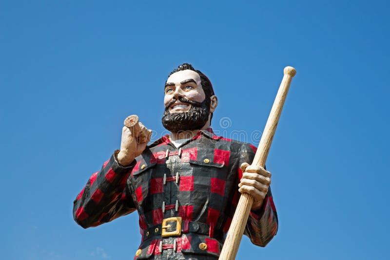 Paul Bunyan. BANGOR, MAINE , USA - AUGUST 27 2014: Statue of the legendary character Paul Bunyan, a mythical giant lumberjack. In Bangor, USA 27th August 2014 stock photo