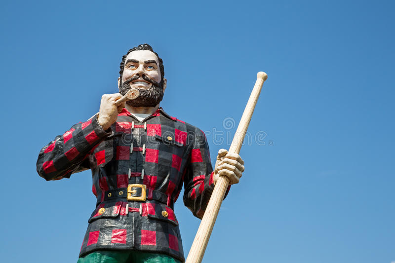 Paul Bunyan. BANGOR, MAINE , USA - AUGUST 27 2014: Statue of the legendary character Paul Bunyan, a mythical giant lumberjack. In Bangor, USA 27th August 2014 royalty free stock image