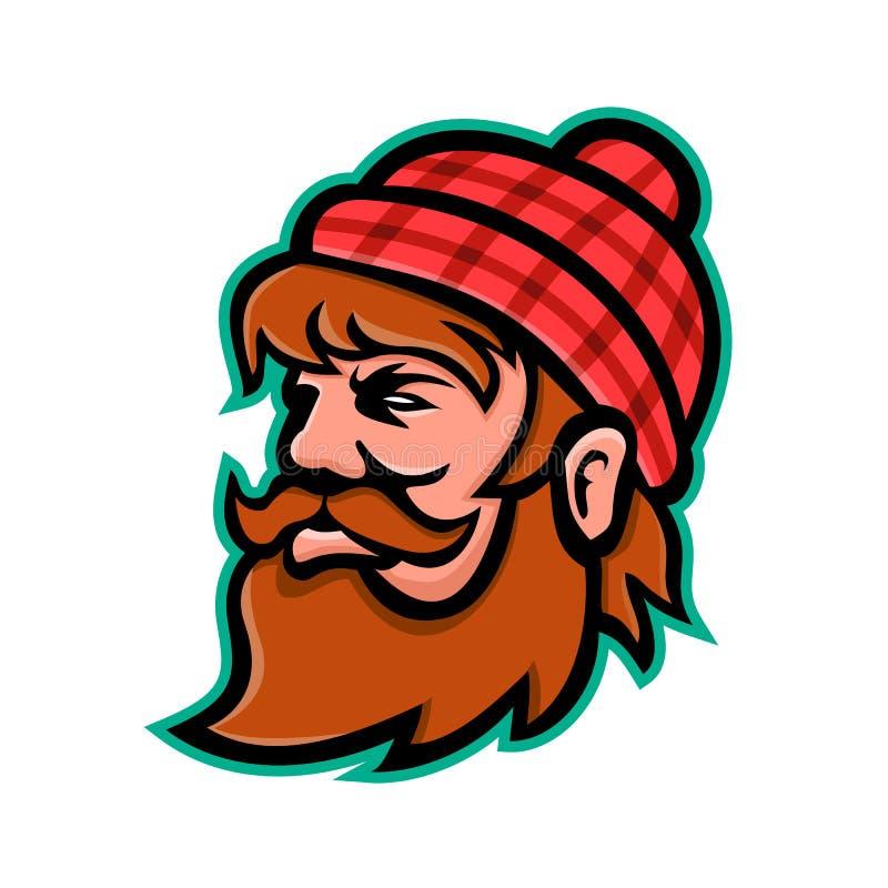 Paul Bunyan Lumberjack Mascot vektor illustrationer