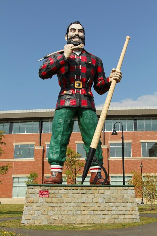 Paul Bunyan Statue. BANGOR, MAINE , USA - AUGUST 27: Statue of Paul Bunyan the giant lumberjack on august 27 in Bangor, USA stock photo