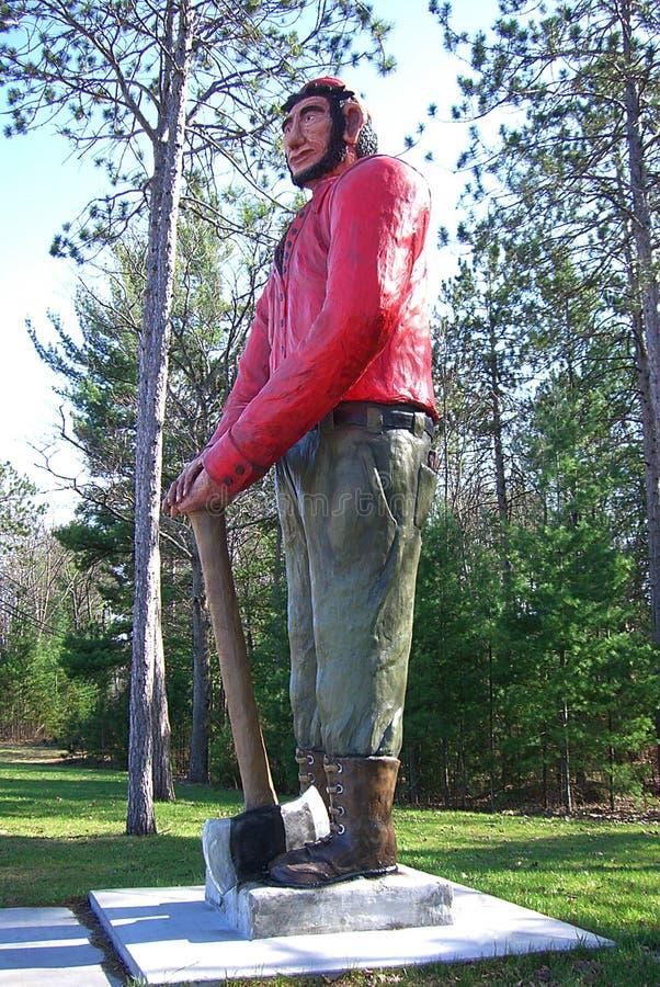 Paul Bunyan Statue, Ossineke, Michigan. Paul Bunyan statue, famous Ossineke, Michigan roadside attraction stock images