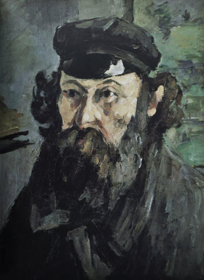 Paul Cezanne Pittura dell'autoritratto immagine stock libera da diritti