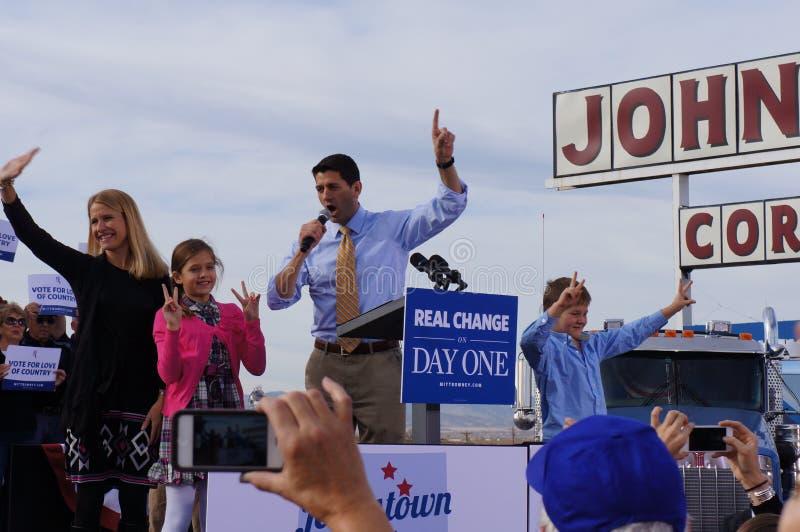 Paul Davis Ryan Rally Mitt Romney Editorial Photo