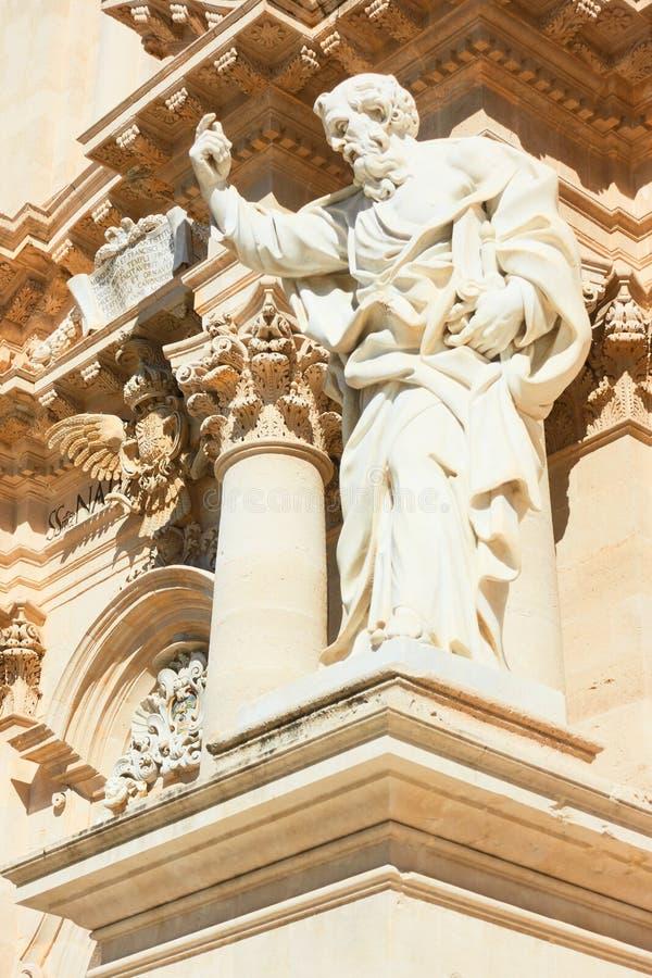 Paul el apóstol - catedral de Syracuse imagen de archivo libre de regalías