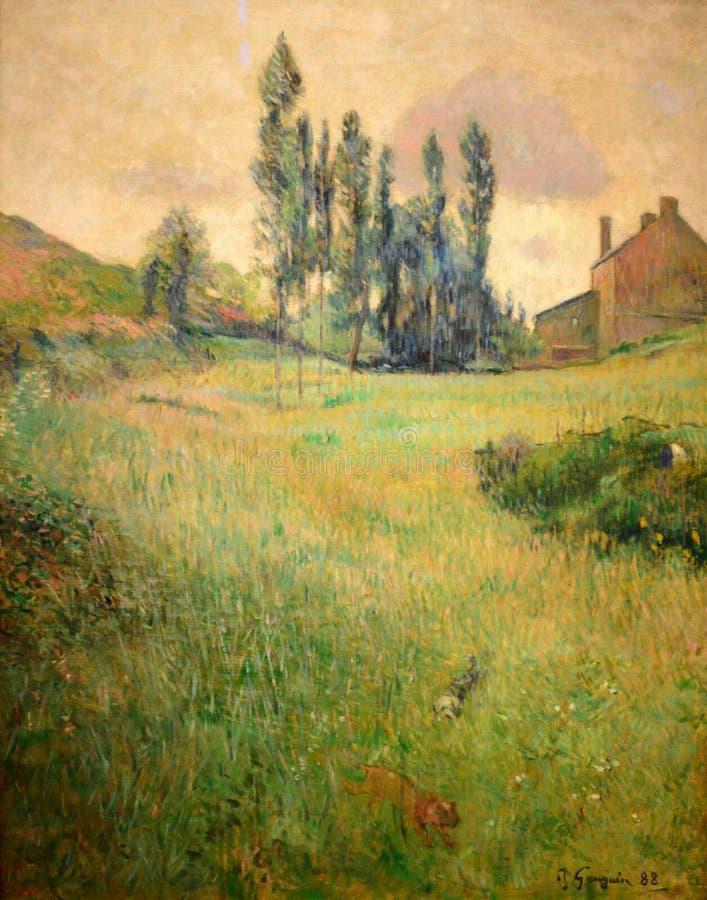 Paul Gauguin Painting royaltyfri foto