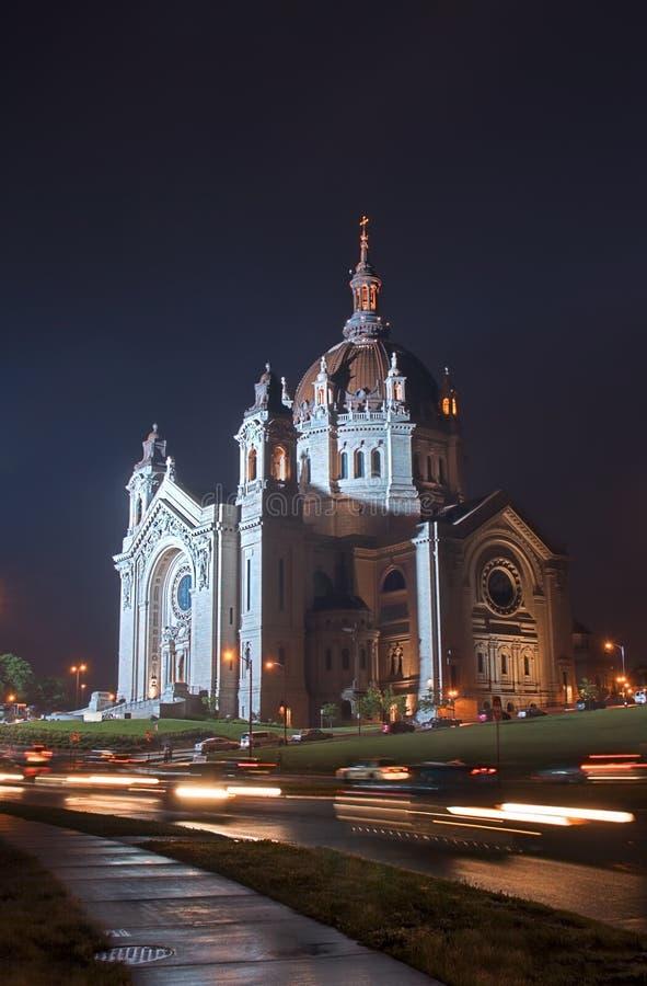 Paul jest noc katedralny st. obraz stock