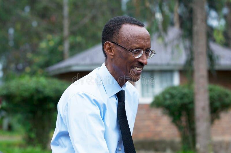 Paul Kagame, presidente do Republic Of Rwanda imagens de stock royalty free
