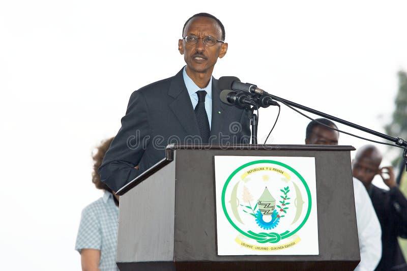 Paul Kagame, presidente do Republic Of Rwanda fotografia de stock