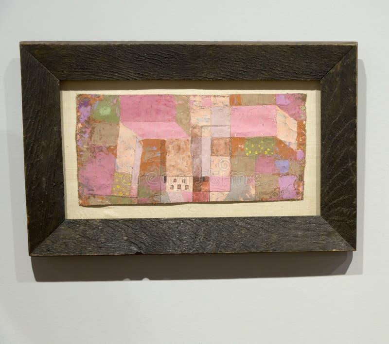 Paul Klee - en el museo de Albertina en Viena foto de archivo