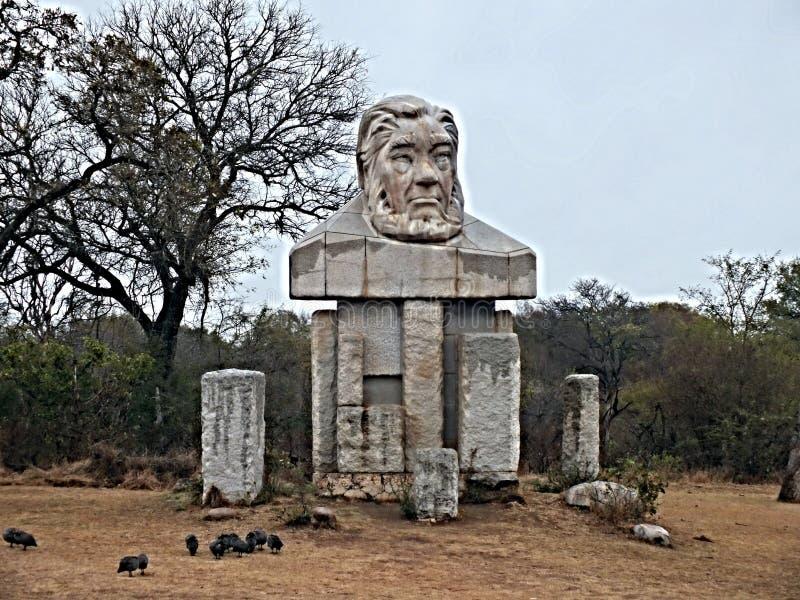 Paul Kruger parkerar monumentet arkivbild
