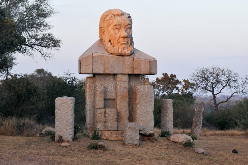 Paul Kruger Statue - Kruger nationalpark, Sydafrika arkivfoton