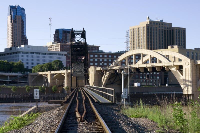 paul linii kolejowej święty obraz stock
