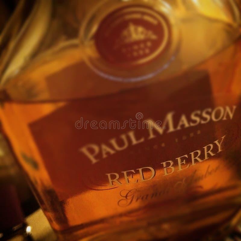 Paul Masson Red Berry Alcohol royaltyfri foto