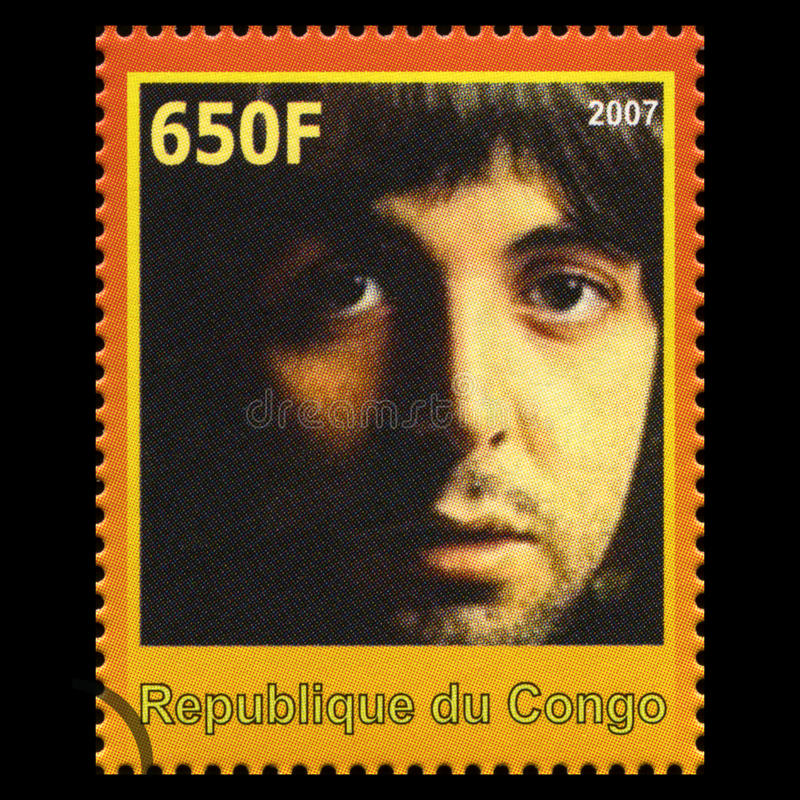 Paul McCartney Beatles Postage Stamp de Congo fotografia de stock royalty free
