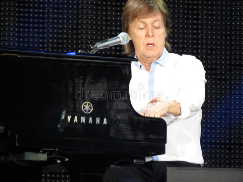 Paul McCartney live in Vienna 2013 royalty free stock image