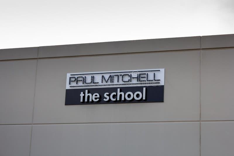 Paul Mitchell The School byggnadstecken arkivbild