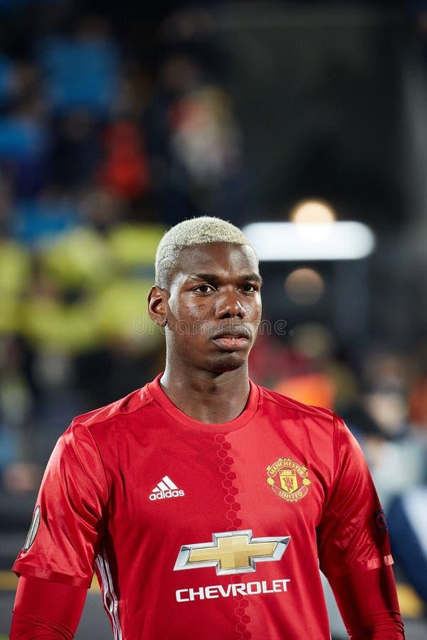 Paul Pogba för finaler för match 1/8 av Europaligan royaltyfria bilder