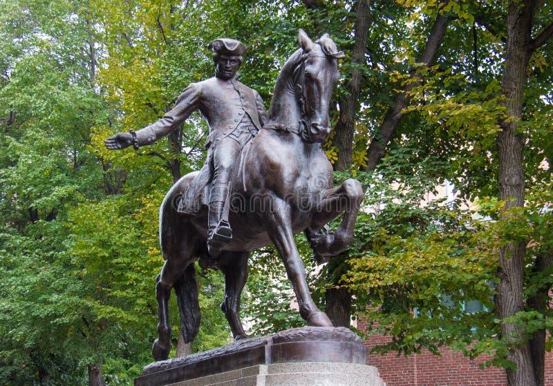 Paul Revere a estátua fotografia de stock