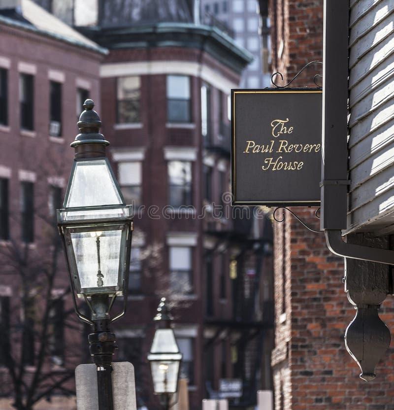 Paul Revere House stock photo