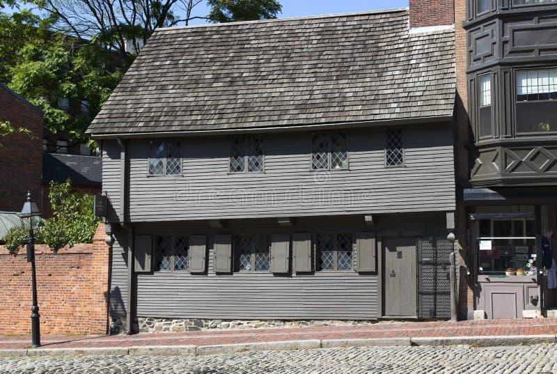 Paul Revere House. The Paul Revere House in Boston, Massachusetts, USA royalty free stock image