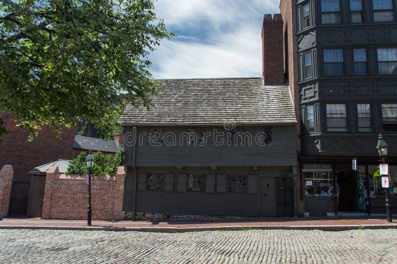 Paul Revere House. The Paul Revere House in Boston, Massachusetts, USA stock photo