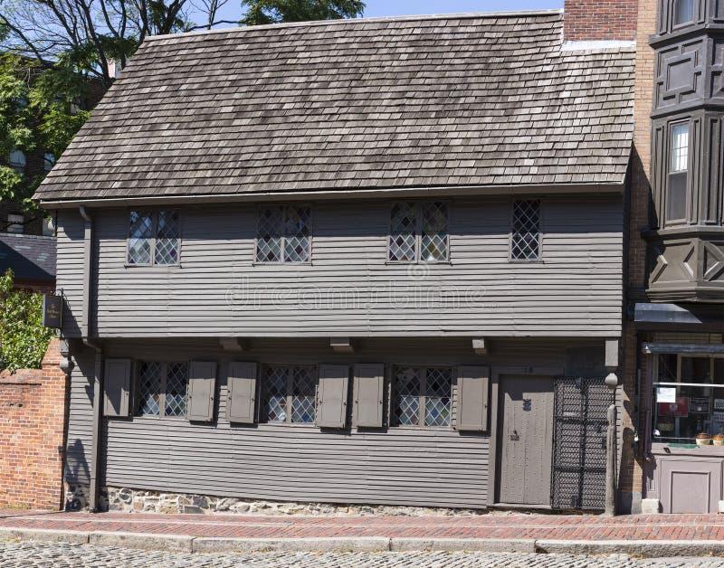 Paul Revere House. The historic Paul Revere House in Boston, Massachusetts, USA royalty free stock image