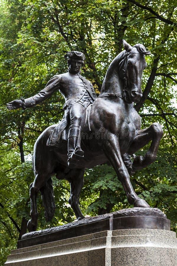 Paul Revere o monumento imagens de stock royalty free