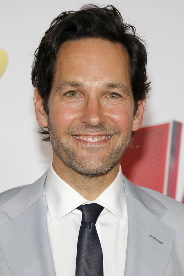 Paul Rudd. At the Los Angeles premiere of `Ant-Man And The Wasp` held at the El Capitan Theatre in Hollywood, USA on June 25, 2018 royalty free stock image