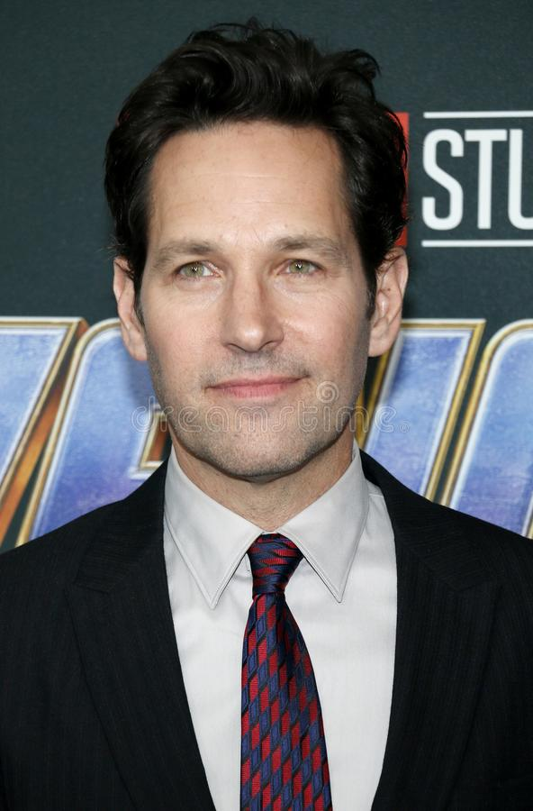 Paul Rudd. At the World premiere of `Avengers: Endgame` held at the LA Convention Center in Los Angeles, USA on April 22, 2019 royalty free stock image