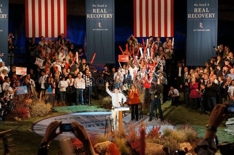 Paul Ryan At Romney Rally Editorial Photo