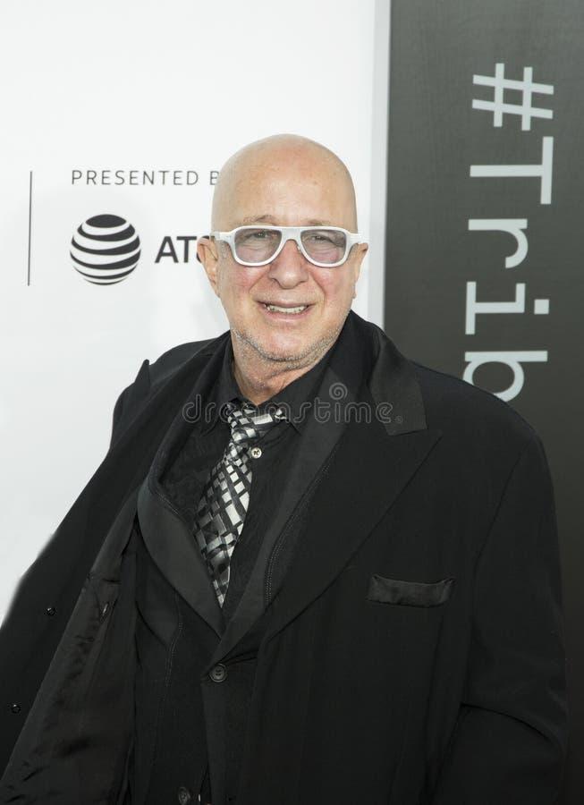 Paul Shaffer på premiären av `-förälskelse, Gilda, ` på den Tribeca filmfestivalen royaltyfria foton