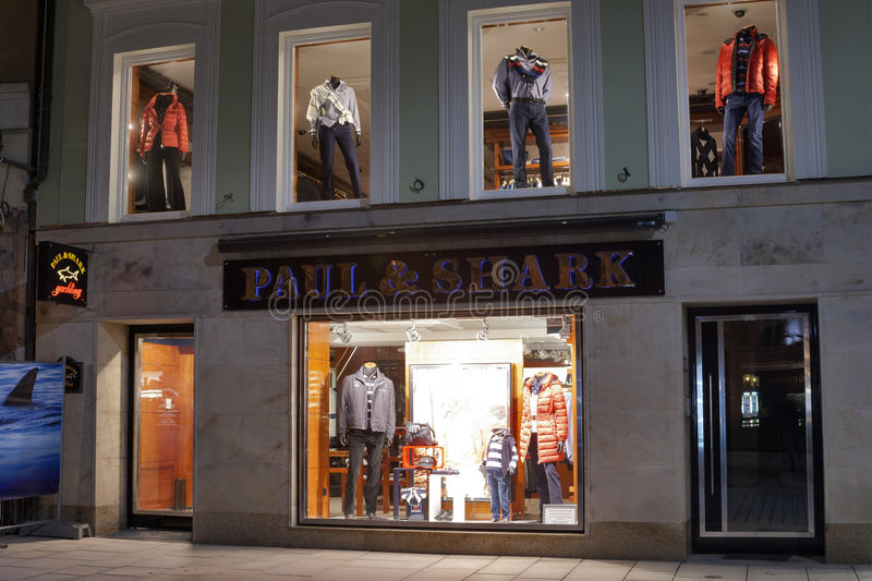 Download Paul & Shark Store In Karlovy Vary At Night Editorial Stock Photo - Image: 28921838