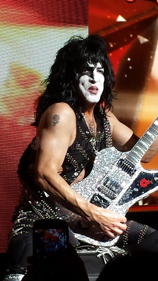 Paul Stanley Kiss Conert. We were blessed to have 3rd row seats for this axing show.. Paul and all the guys were very animated on stage which made capturing them stock photography
