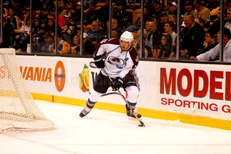 Paul Stastny Colorado Avalanche. Colorado Avalanche forward Paul Stastny #26 royalty free stock photo