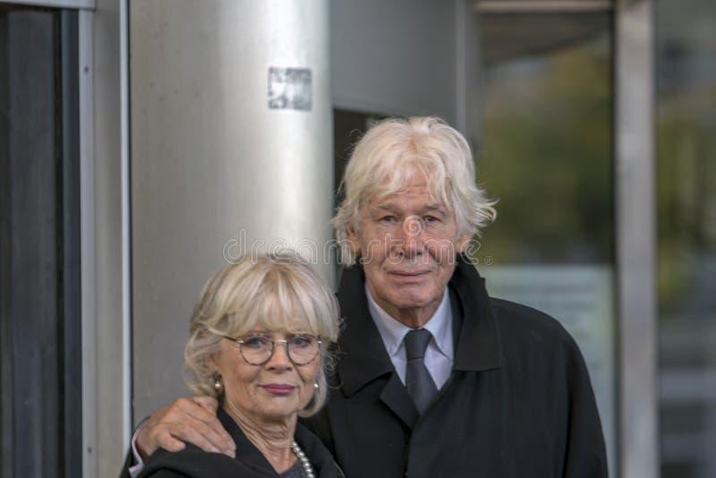Paul Van Vliet At The Memorial-Zeremonie beim Concertgebouw in Amsterdam 27-10-2018 die Niederlande für den Tod von Wim Kok lizenzfreie stockfotografie