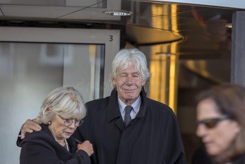Paul Van Vliet At The Memorial-Zeremonie beim Concertgebouw in Amsterdam 27-10-2018 die Niederlande für den Tod von Wim Kok stockfoto
