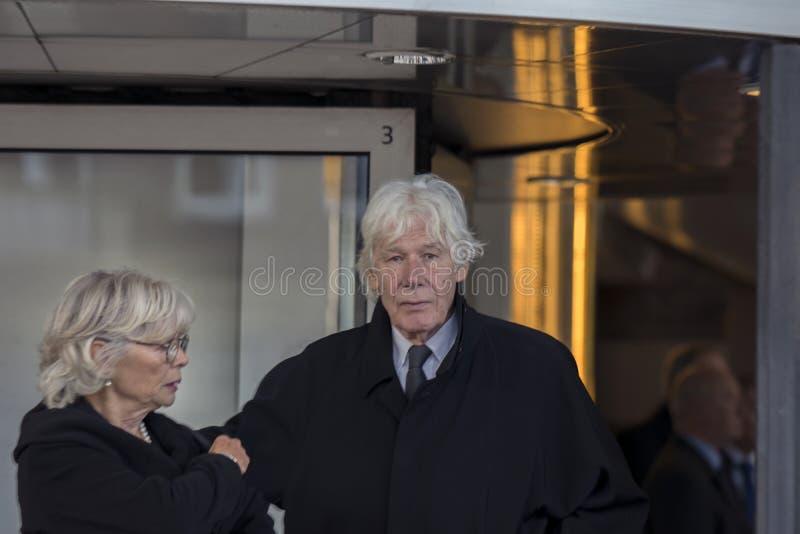 Paul Van Vliet At The Memorial-Zeremonie beim Concertgebouw in Amsterdam 27-10-2018 die Niederlande für den Tod von Wim Kok lizenzfreies stockfoto